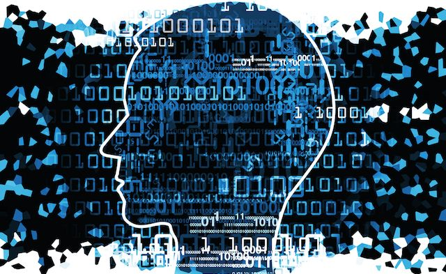 humano de cabeza binario de código