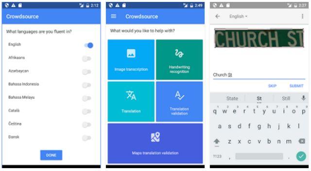 Google-crowdsource-capturas de pantalla
