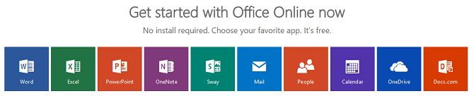 aplicaciones de oficina en línea