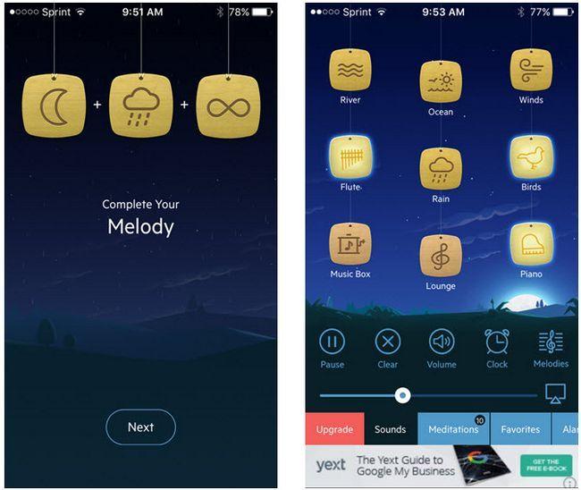 relajarse melodías aplicación para iOS