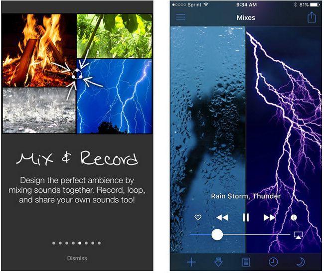 aplicación de iOS ruido blanco