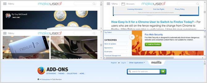 tiletabs complemento de Firefox