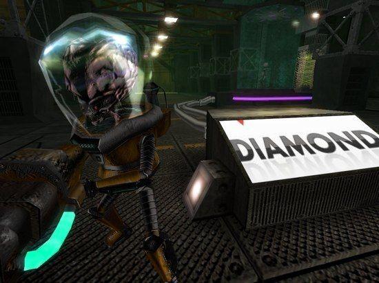 En el juego de Alien Arena pantalla