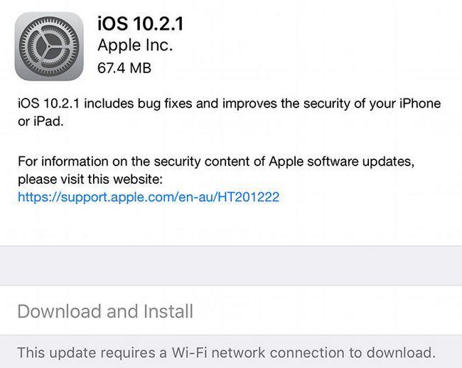 actualización de iOS