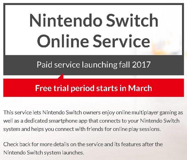 Interruptor de servicio en línea de Nintendo