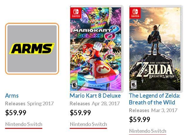 Interruptor de Nintendo Game precios