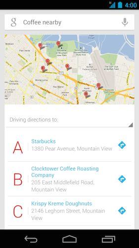 Mapas de Google de café cerca