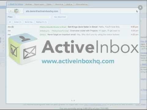 Organizar su bandeja de entrada de gmail mejor con activeinbox