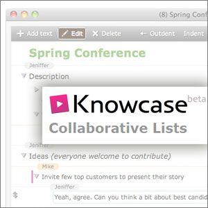 Esbozar las ideas y colaborar con los demás en el bloc de notas minimalista knowcase