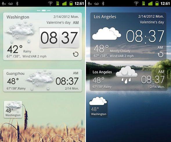 aplicación del tiempo para android