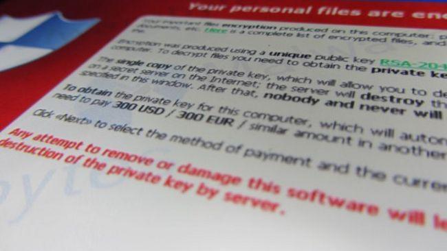 Ransomware Prevención cryptolocker