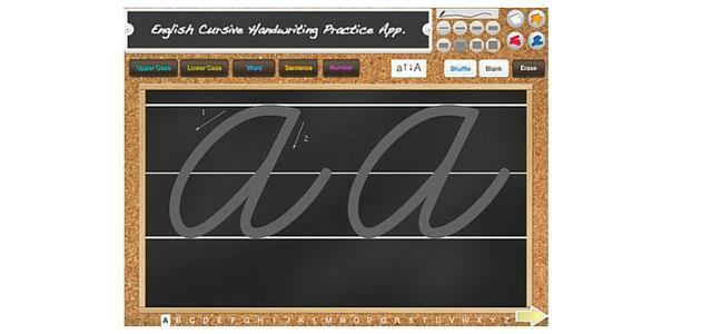 La escritura cursiva App 1
