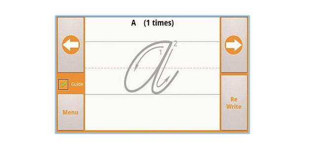 Aplicación escritura cursiva