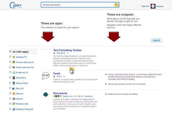 motor de búsqueda de aplicaciones