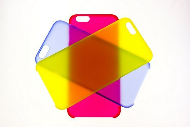 Casos de teléfono multicolor