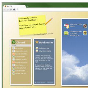 Reemplazar página de nueva pestaña predeterminada de google, con la página de inicio increíble visualmente agradable