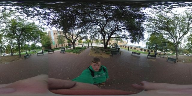 Ricoh theta revisión 360 de la cámara