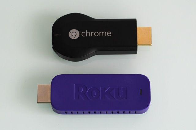 roku opinión palo de transmisión en comparación de tamaño Chromecast