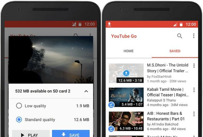guardar los datos móviles van youtube