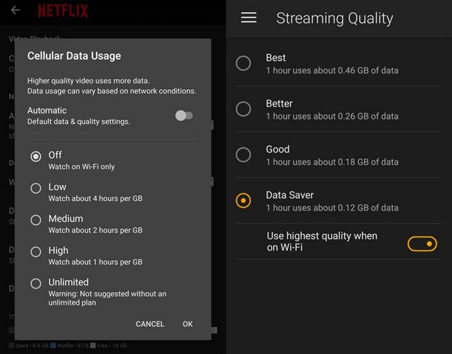 guardar vídeo streaming de datos móviles