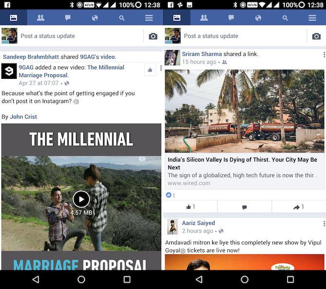 Lite Android aplicaciones de Facebook Lite