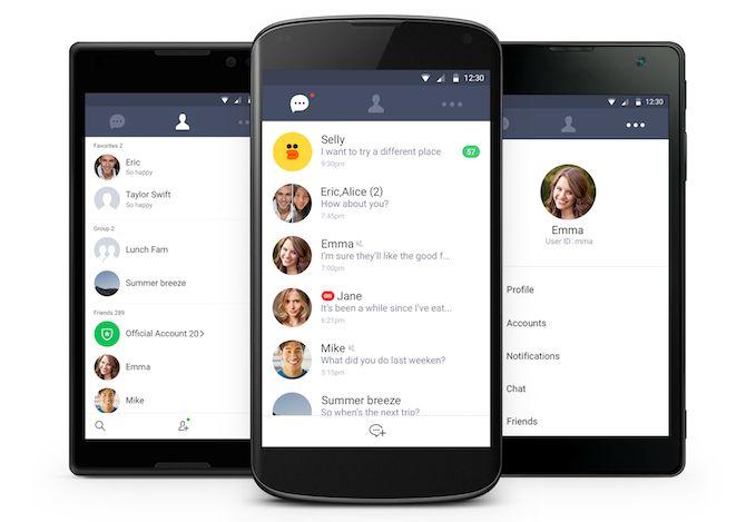 androide línea de aplicaciones sencillas