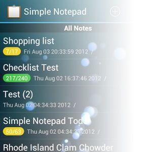 Nota segura y muy simple de tomar con un simple bloc de notas [android 2.2 +]
