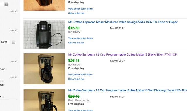cafeteras ebay-roto;