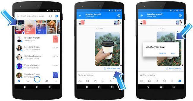 día messenger facebook con amigos