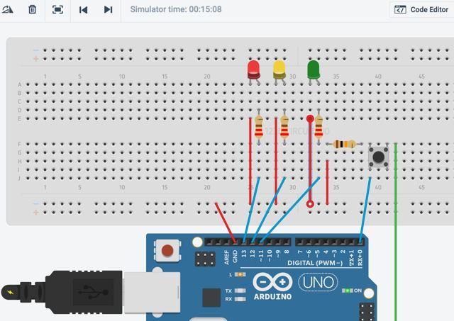 Arduino-tráfico-luz-123dc