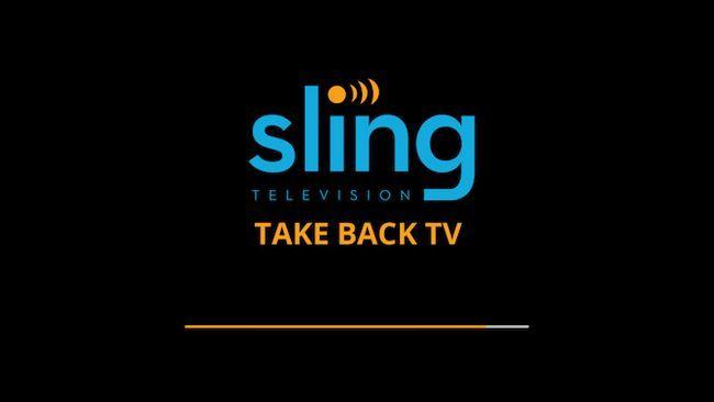pantalla de carga de TV Sling