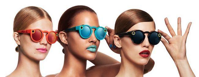 Snapchat Gafas Toque para disparar