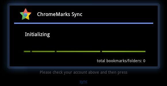sincronizar los marcadores de Chrome de Google
