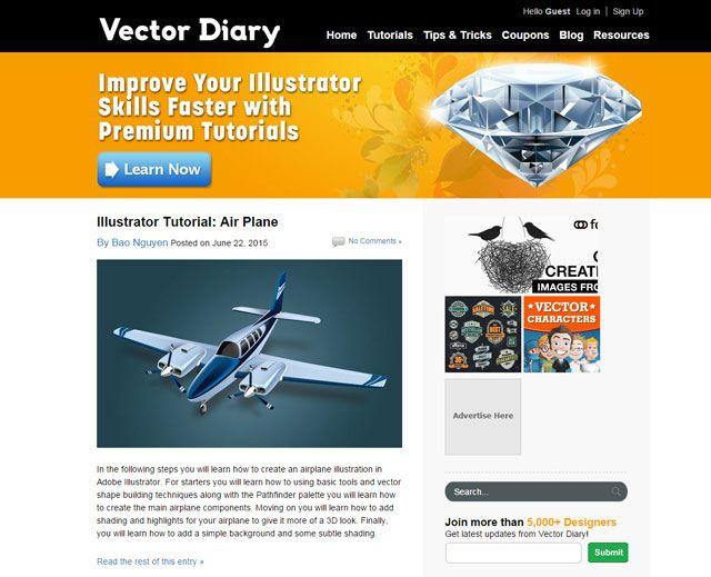 Vector Diary: El aprendizaje Illustrator