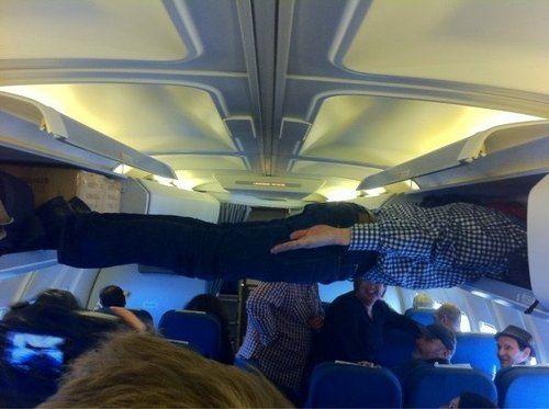 tablazón en el avión