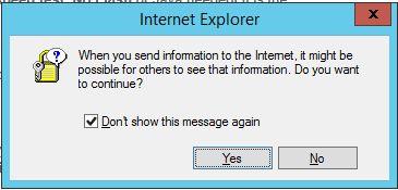 Ver IE información de alerta