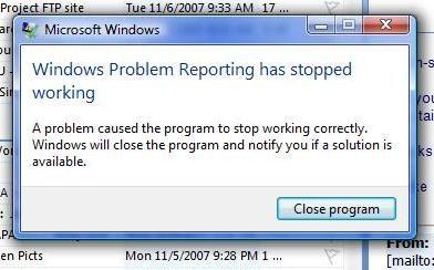 Programa de Notificación de errores de Windows