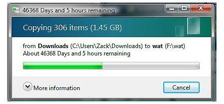 Las transferencias de archivos en Windows Vista