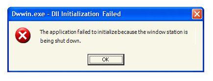 Error Error de apagado