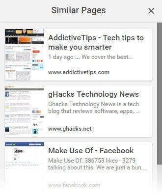 Páginas similares de Google