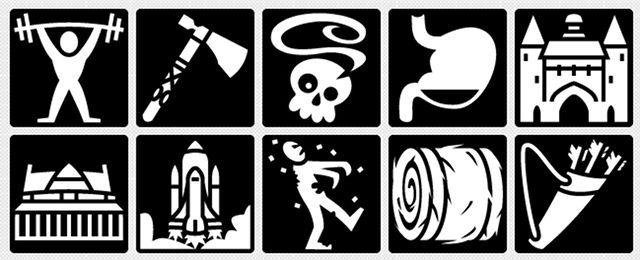 clasificado entre las existencias y las imágenes-juego-iconos