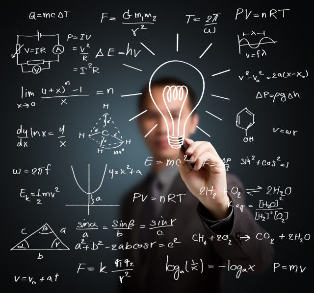 Hombre inteligente matemáticas