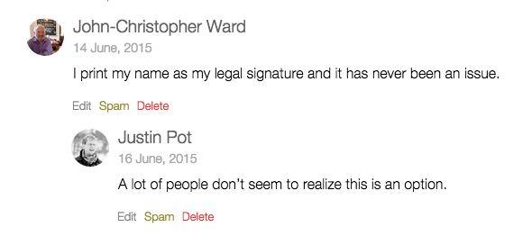 impresión de la firma