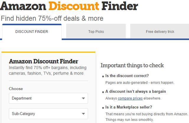Amazon-Descuento-Finder en el Reino Unido