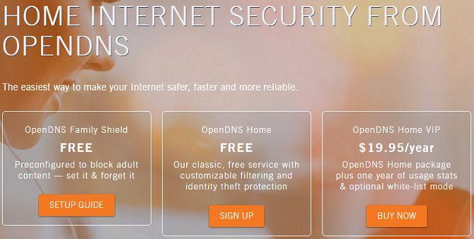 OpenDNS controles parentales