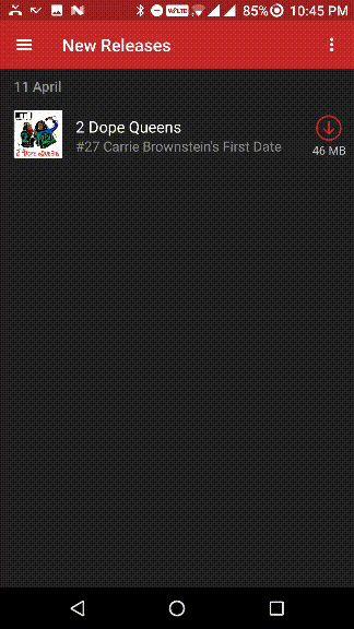 botón de menú de la aplicación para Android