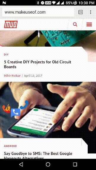 Recientes Android y botón de inicio