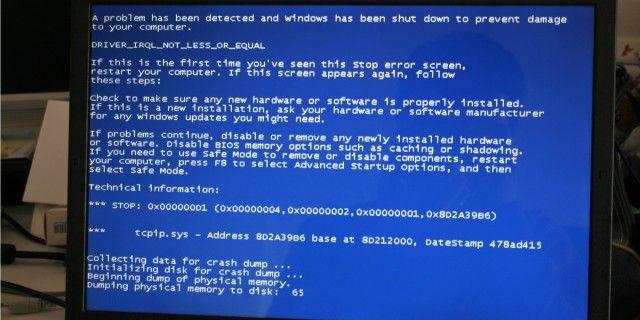 ventanas de pantalla azul de la muerte