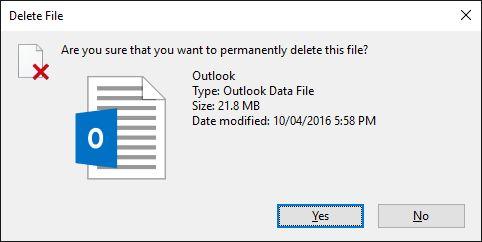 eliminar permanentemente el archivo