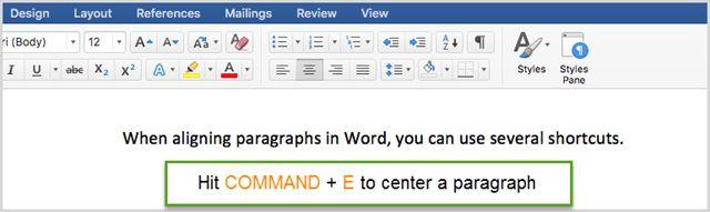 WordCenterParagraph1